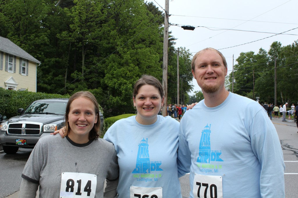 Amanda, Rachel, and Steve - racers extraordinaire!