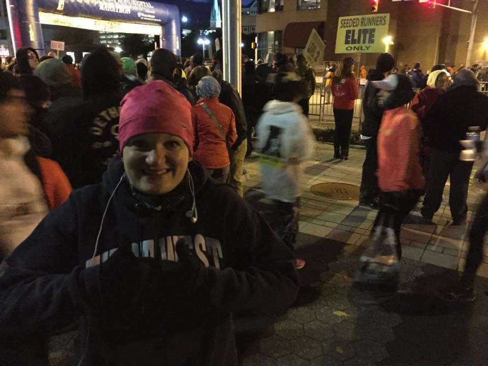Rachel at Half Marathon Start