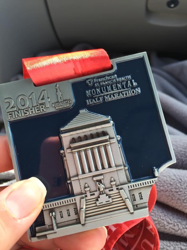 A monumental medal