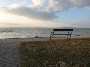 The shore of Lake Balaton, Hungary