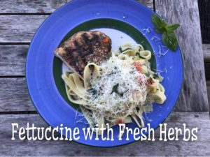 Fettuccine with Fresh Herbs and Chicken