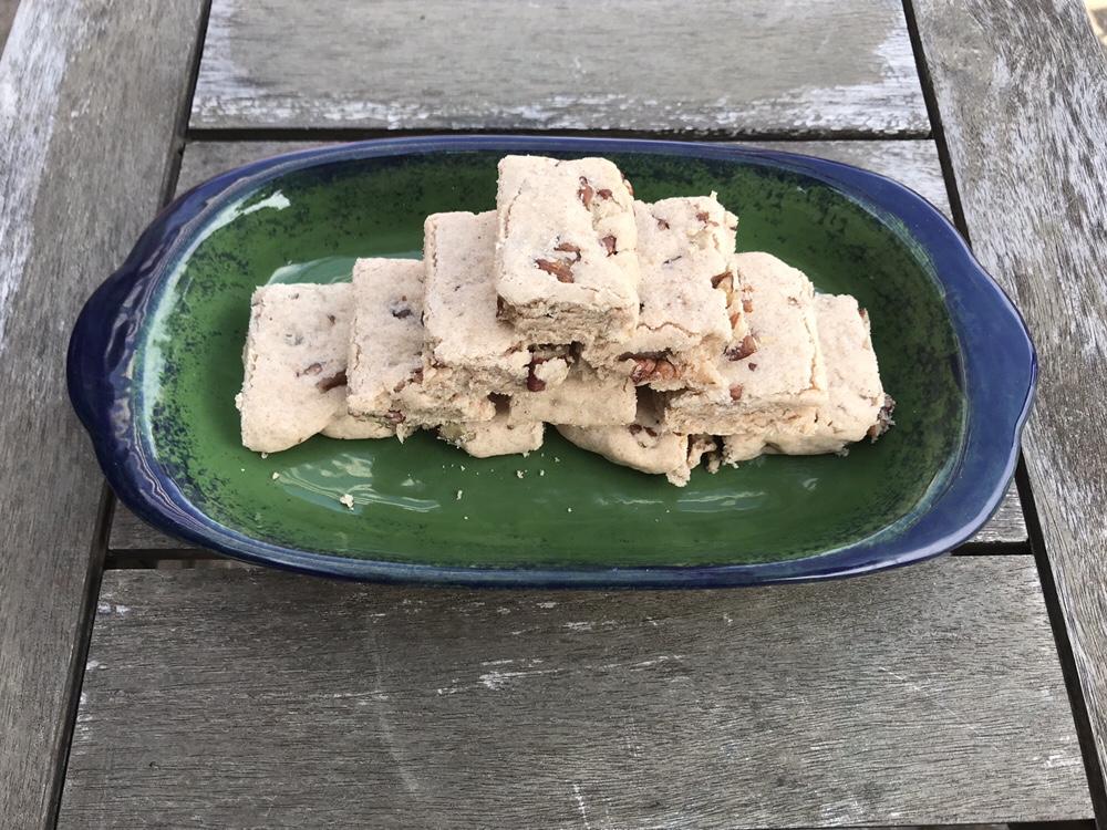 Cinnamon-Pecan Shortbread Stack