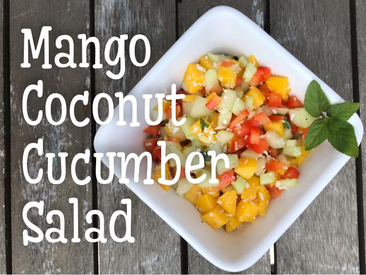 Mango Coconut Cucumber Salad